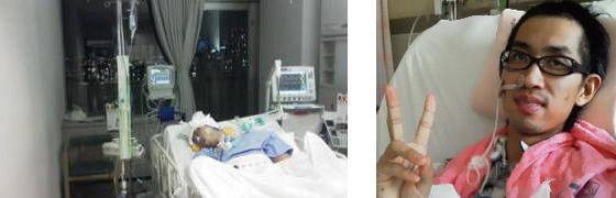 2011/01/20 脳幹出血発症 ICUから重篤部屋に移動